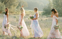 Ten Fabulous Floral Bridesmaids Dresses